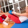 Stock Photo: Group of doing fitness exercise
