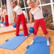 Group of doing fitness exercise — Foto Stock