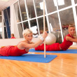 Group of doing fitness exercise — Stock Photo #8984002