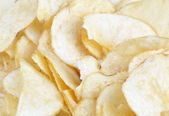 Many of potato chips — Stock Photo
