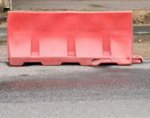 Restrictive block on road — Stock Photo