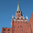 Kremlin tower on sky background - Stock Photo