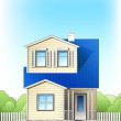 Suburb house — Stock Vector