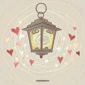 Valentine baterku — Stock vektor