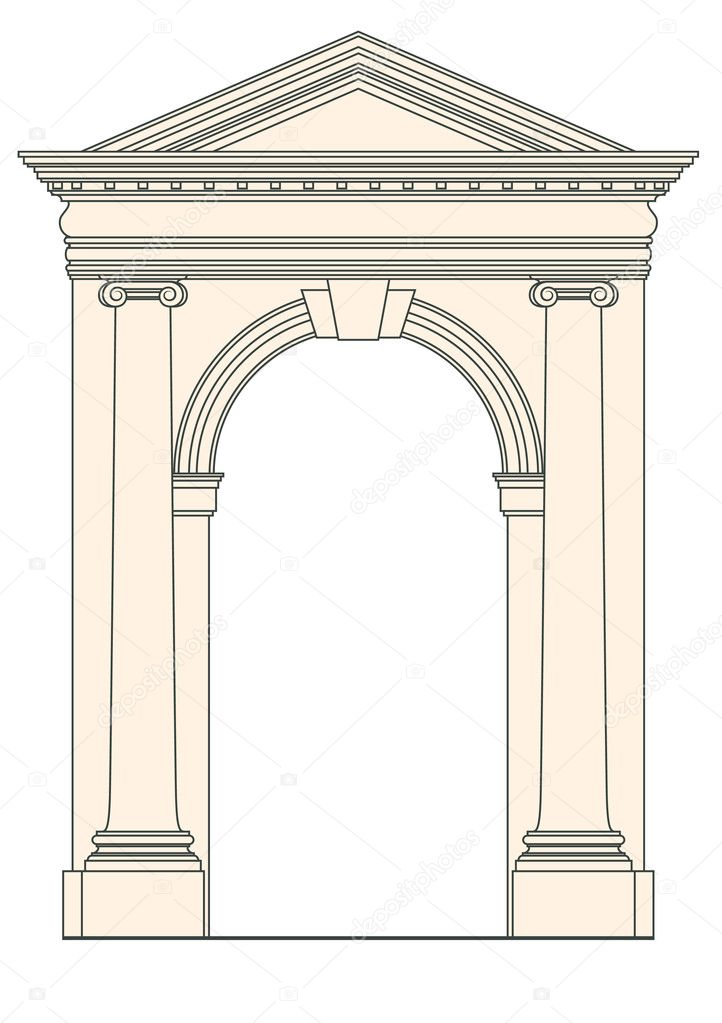 Vector drawing as architectural element  — Stock Vector #8731859