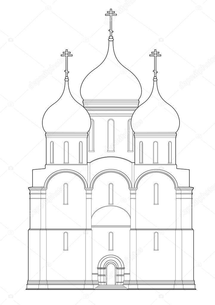 Рисунков церквей храмов карандашами