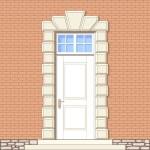 Eingang im klassischen Stil — Stockvektor