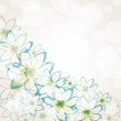 Spring flower background — Vector de stock