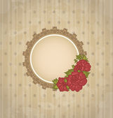 Vintage background with floral medallion and flowers — Stock Vector
