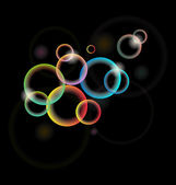 Conjunto de círculo iluminado multicolor para tarjeta de diseño o folleto — Vector de stock
