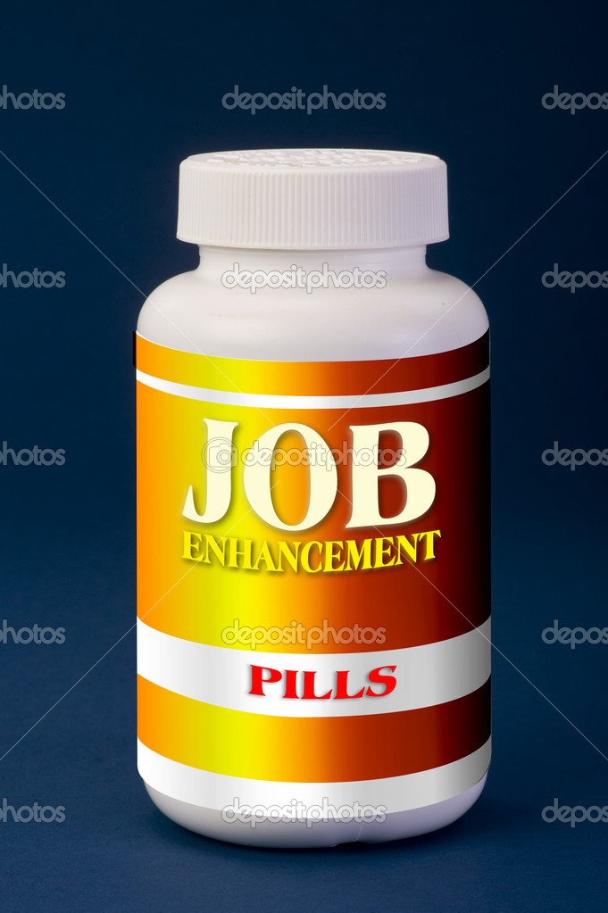 Job enhancement pills.  Foto Stock #10310782