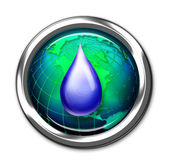 Water Drop Button. — Stock Photo