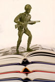 Education and the Soldier. — Stock Photo