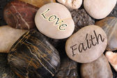 Love and Faith Stones. — Stock Photo