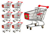 E-Commerce Shopping Carts. — Stock Photo