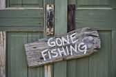 Había ido de pesca. — Foto de Stock