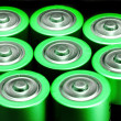 Green Battery Power. — Stock Photo