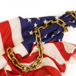 America Chained down. - Stock Photo