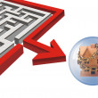 Maze and Home investment. — Stock Photo