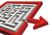 Maze and Arrow. — Stock Photo
