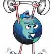 Royalty-Free Stock Photo: Planet Earth Strong man.