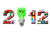 2012 New Year. For Green Energy. — Stock Photo