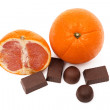 Oranges and sweets — Stock Photo