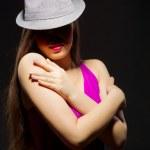 若い女性のファッションの肖像画 — ストック写真