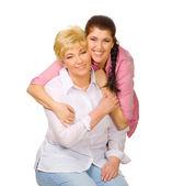 Mulheres jovens e seniores — Fotografia Stock
