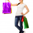 Young girl with bags — Stock Photo #9858133