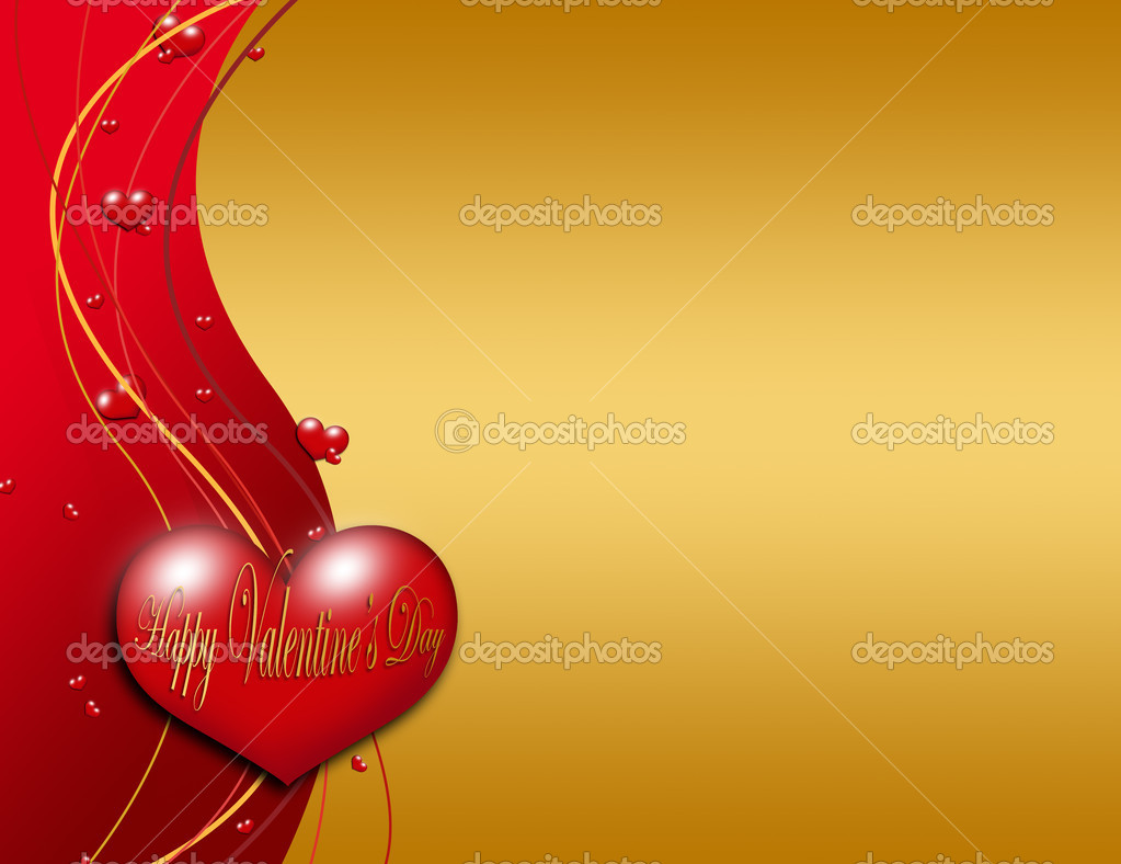 Valentines day greeting card over red dark background  Stock fotografie #8501545