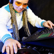 Dj woman playing music — Stock Photo