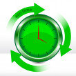 Vector eco clock — Stock Vector