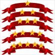 Five star ribbon — Stockvector #9487205
