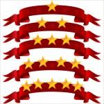 5 つ星のリボン — ストックベクタ