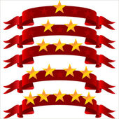 Five star ribbon — Stock Vector