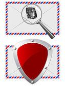 E-mail-schutz — Stockvektor