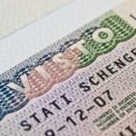 Schengen visa in passport — Stock Photo