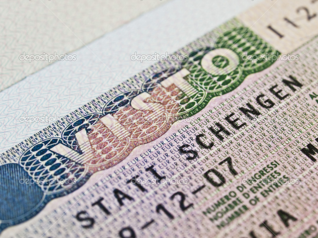 Schengen visa in passport — Stock Photo #9386918