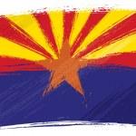 Grunge Arizona flag — Stock Vector