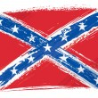 Stock Vector: Grunge Confederate flag