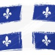 Stock Vector: Grunge Quebec flag