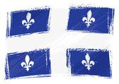 グランジ ケベックの旗 — ストックベクタ