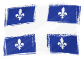Grunge Quebec flag — Vecteur