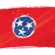 Grunge Tennessee flag — Stock Vector