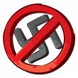 Stock Vector: No nazi symbol