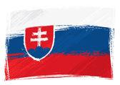 Grunge Slovakia flag — Stock Vector
