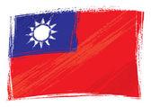 Grunge Taiwan flag — Stock Vector
