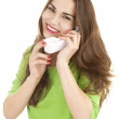 Happy girl on the phone — Stock Photo