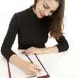 Writing female student — Stock Photo #10020924